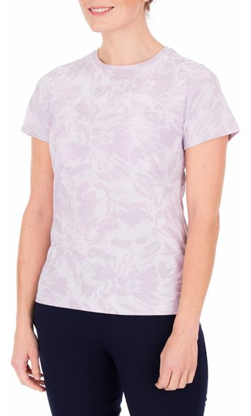 Anna Rose Textured Short Sleeve Top Lilac