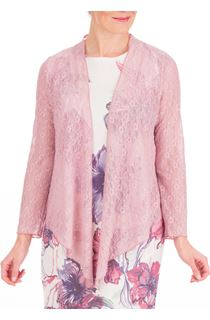 Anna Rose Glitter And Lace Cover Up - Soft Pink