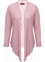 Anna Rose Glitter And Lace Cover Up Soft Pink - Gallery Image 4