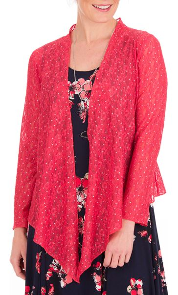 Anna Rose Glitter And Lace Cover Up Watermelon