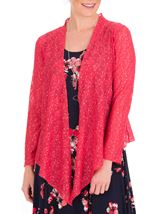 Anna Rose Glitter And Lace Cover Up Watermelon - Gallery Image 1