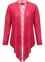 Anna Rose Glitter And Lace Cover Up Watermelon - Gallery Image 2
