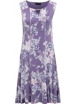 Anna Rose Panelled Floral Jersey Midi Dress Lilac Multi - Gallery Image 1