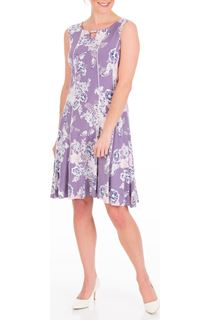 Anna Rose Panelled Floral Jersey Midi Dress