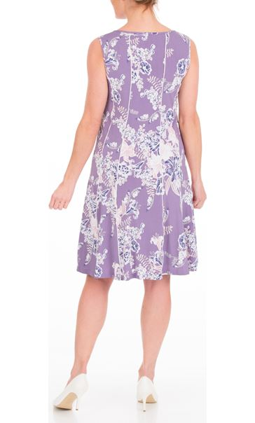 Anna Rose Panelled Floral Jersey Midi Dress Lilac Multi - Gallery Image 3