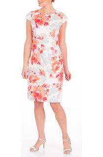 Anna Rose Fitted Print Midi Dress
