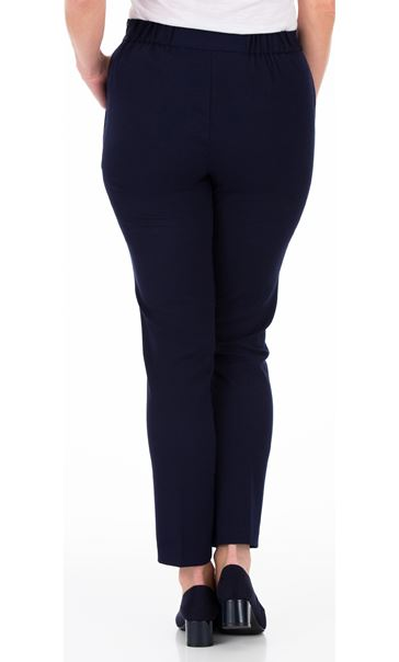 Anna Rose Slim Leg Trousers 29 Inch Navy - Gallery Image 3