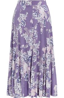 Anna Rose Panelled Floral Jersey Midi Skirt