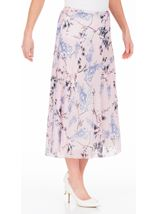 Anna Rose Bias Cut Chiffon Midi Skirt Soft Pink - Gallery Image 1