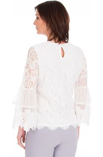 Long Sleeve Lace Bell Sleeve Top