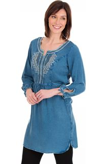 Embroidered Washed Tunic