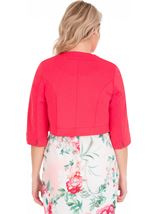 Open Cropped Scuba Jacket Pink - Gallery Image 2