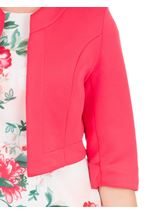 Open Cropped Scuba Jacket Pink - Gallery Image 3