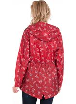 Lightweight Waterproof Printed Coat Red - Gallery Image 2
