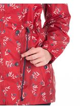 Lightweight Waterproof Printed Coat Red - Gallery Image 3
