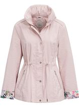 Anna Rose Contrast Cuff Lightweight Coat Pink - Gallery Image 1