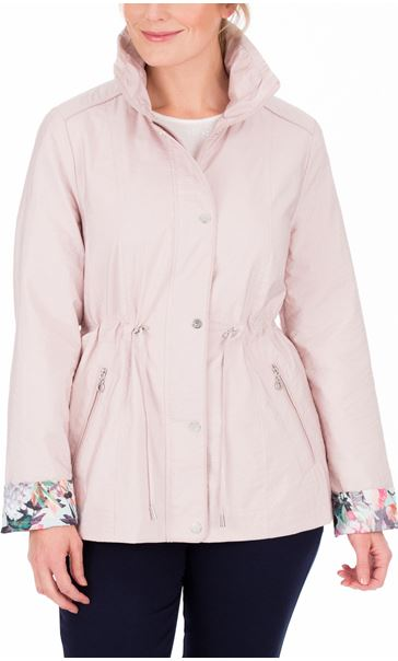 Anna Rose Contrast Cuff Lightweight Coat Pink - Gallery Image 2