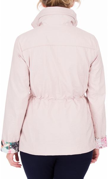 Anna Rose Contrast Cuff Lightweight Coat Pink - Gallery Image 3