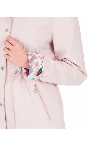 Anna Rose Contrast Cuff Lightweight Coat Pink - Gallery Image 4