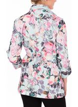 Anna Rose Garden Printed Roll Sleeve Lightweight Coat Floral - Gallery Image 3