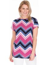 Zig Zag Printed Tunic Midnight/Heather - Gallery Image 1