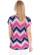 Zig Zag Printed Tunic Midnight/Heather - Gallery Image 2