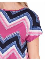 Zig Zag Printed Tunic Midnight/Heather - Gallery Image 3
