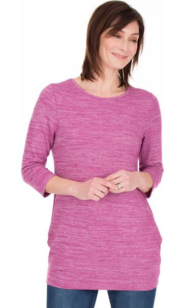 Lightweight Knitted Tunic Heather/White