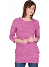 Lightweight Knitted Tunic Heather/White - Gallery Image 1