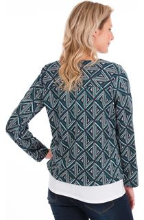 Triangle Print Zip Jacket