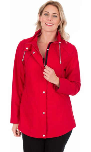 Lightweight Sporty Coat Ruby