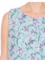 Anna Rose Bias Cut Floral Chiffon Midi Dress Aqua./Purple - Gallery Image 4