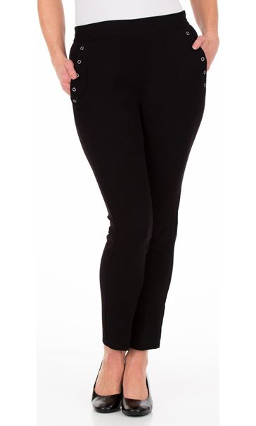Anna Rose Slim Leg Trousers 29 Inch - Black