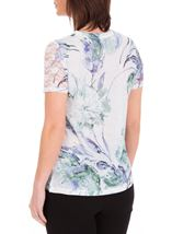 Anna Rose Bouquet Print Top Ivory/Purple - Gallery Image 3