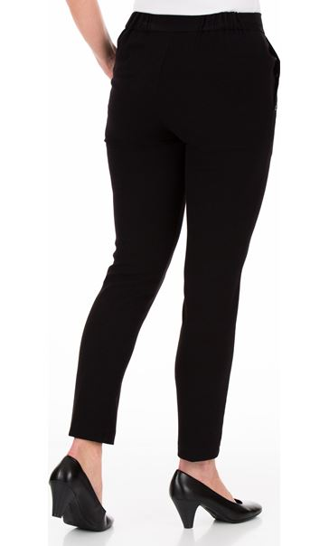 Anna Rose Slim Leg Trousers 27 Inch Black - Gallery Image 2