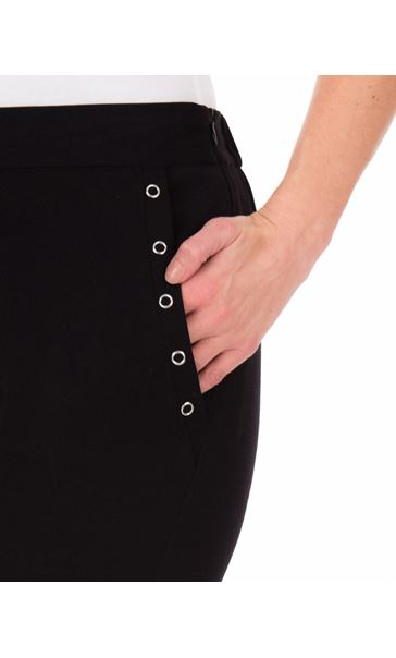 Anna Rose Slim Leg Trousers 27 Inch Black - Gallery Image 3