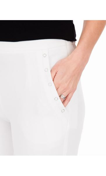 Anna Rose Slim Leg Trousers 27 Inch Ivory - Gallery Image 3
