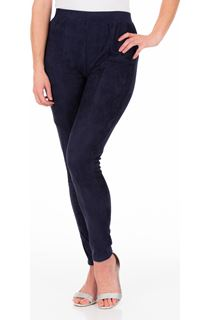Suedette Pull On Fitted Trousers