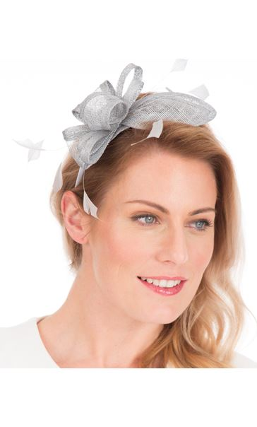 Sinamay Headband Fascinator Silver