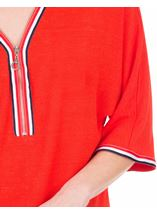 Braid Trim Loose Fit Knit Top Ruby - Gallery Image 3