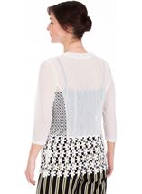 Crochet Trim Cover Up Ivory - Gallery Image 2