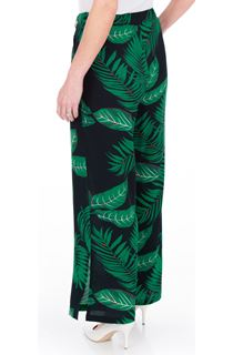 Leaf Printed Wide Leg Trousers