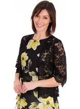 Lace Cover Up Black - Gallery Image 1