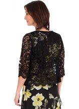 Lace Cover Up Black - Gallery Image 2