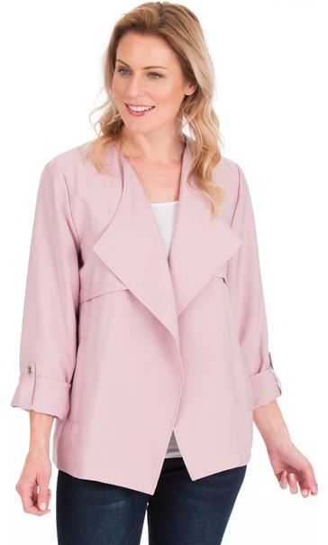 Open Front Lightweight Jacket Blush