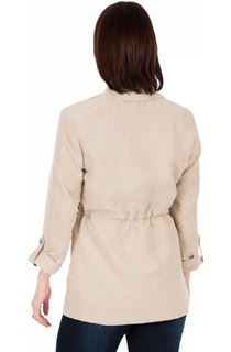 Suedette Safari Jacket