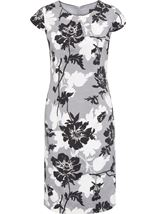 Anna Rose Printed Shantung Dress