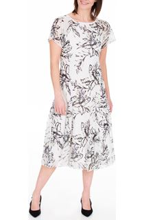 Anna Rose Bias Cut Chiffon Midi Dress