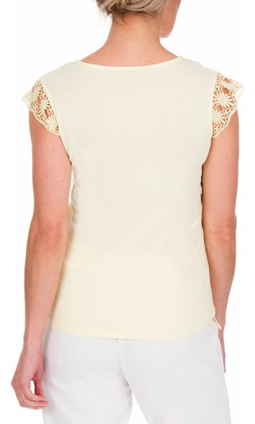 Anna Rose Lace Front Top Soft Yellow - Gallery Image 3