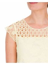 Anna Rose Lace Front Top Soft Yellow - Gallery Image 4